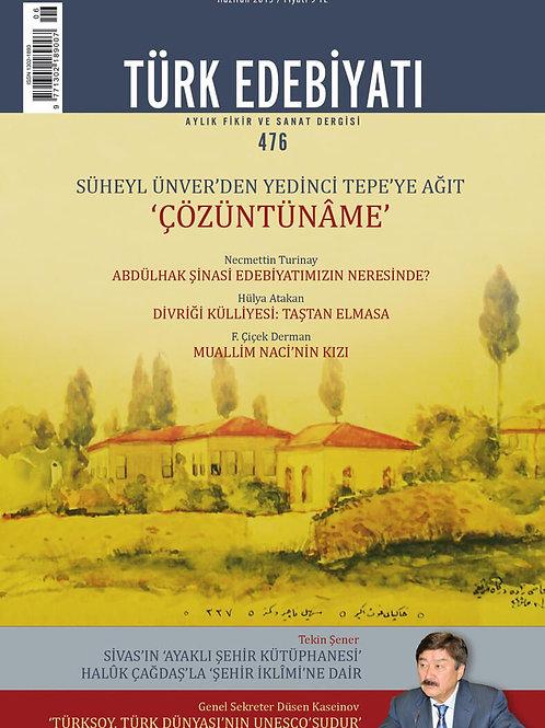 Türk Edebiyatı 476. Sayı
