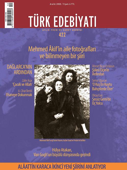 Türk Edebiyatı Dergisi 422. Sayı