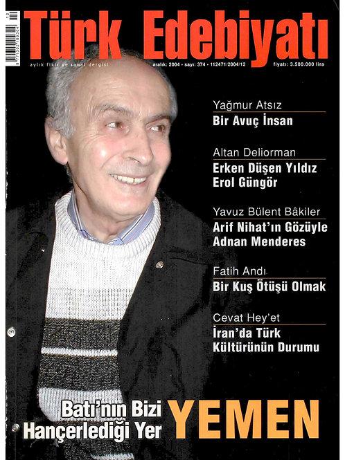 Türk Edebiyatı Dergisi 374. Sayı