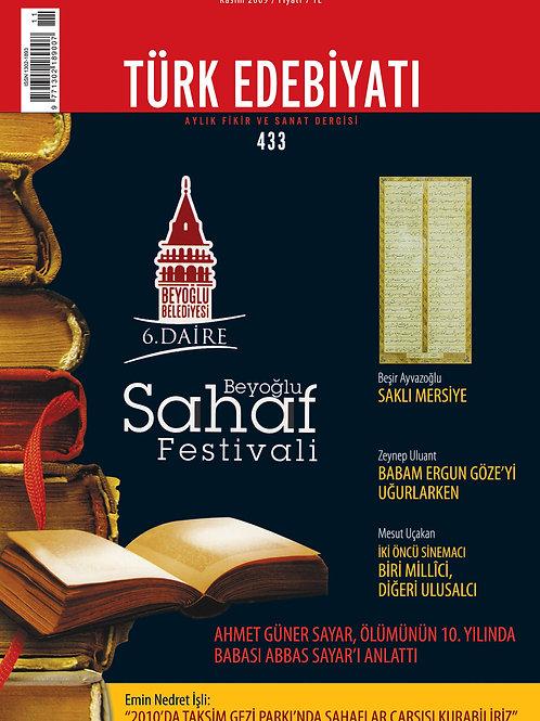 Türk Edebiyatı Dergisi 433. Sayı