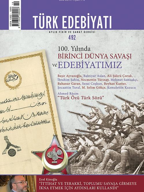Türk Edebiyatı Dergisi 492. Sayı