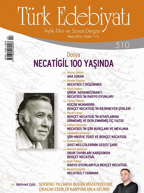 Türk Edebiyatı 510. Sayı