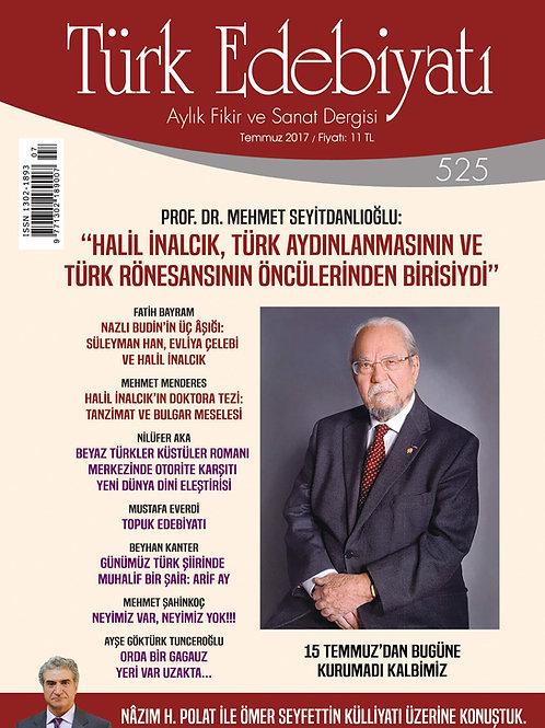 Türk Edebiyatı Dergisi 525. Sayı