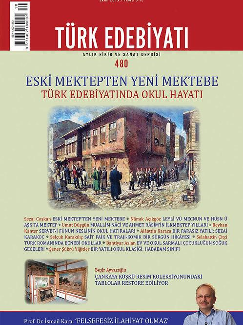 Türk Edebiyatı Dergisi 480. Sayı