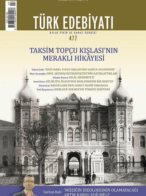 Türk Edebiyatı Dergisi 477. Sayı