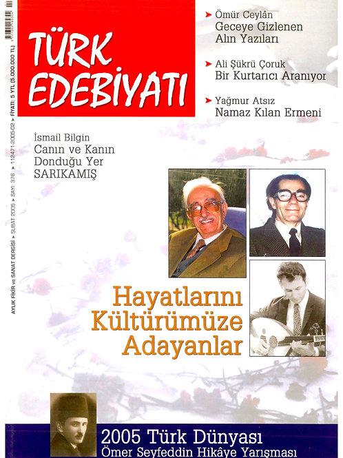 Türk Edebiyatı Dergisi 376. Sayı