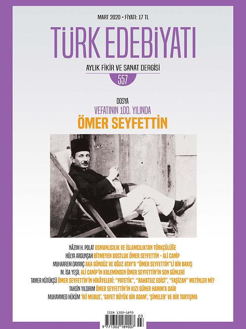 Türk Edebiyatı Dergisi 557. Sayı