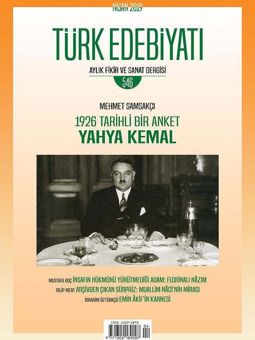 Türk Edebiyatı Dergisi 546. Sayı