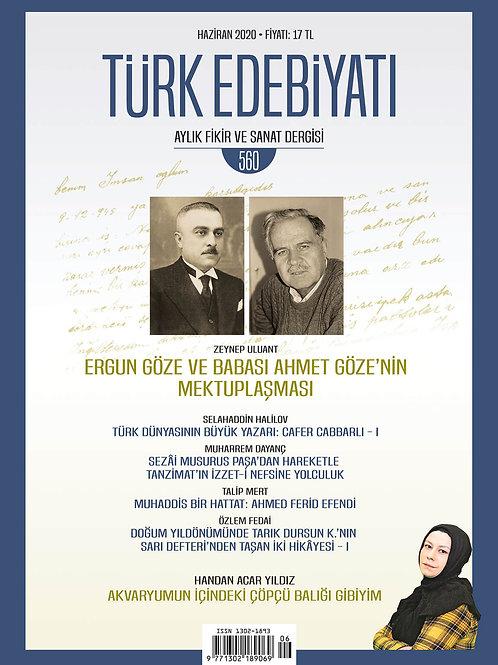 Türk Edebiyatı Dergisi 560. Sayı