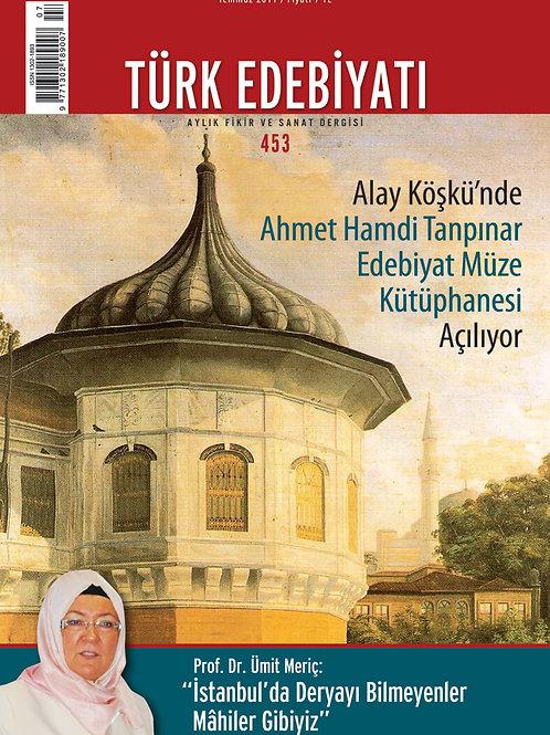Türk Edebiyatı Dergisi 453. Sayı