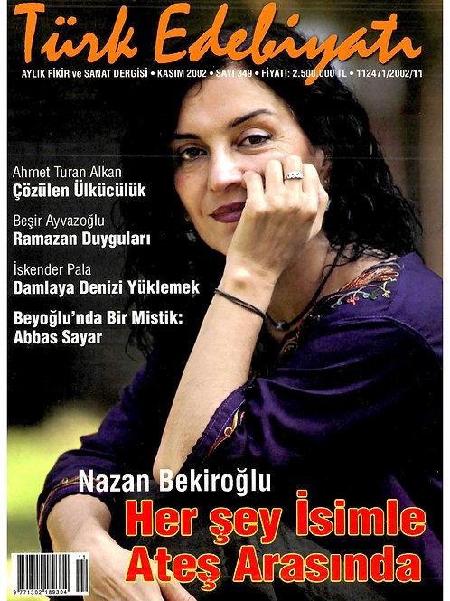 Türk Edebiyatı Dergisi 349. Sayı