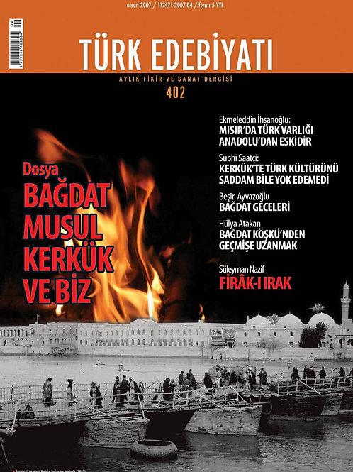 Türk Edebiyatı Dergisi 402. Sayı