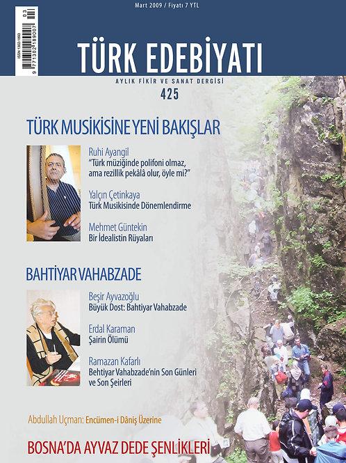 Türk Edebiyatı Dergisi 425. Sayı