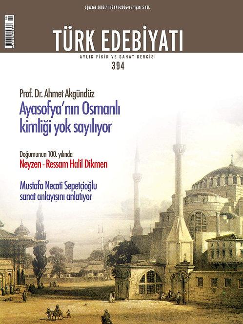 Türk Edebiyatı Dergisi 394. Sayı