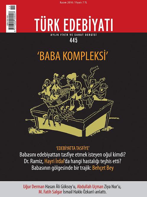 Türk Edebiyatı Dergisi 445. Sayı