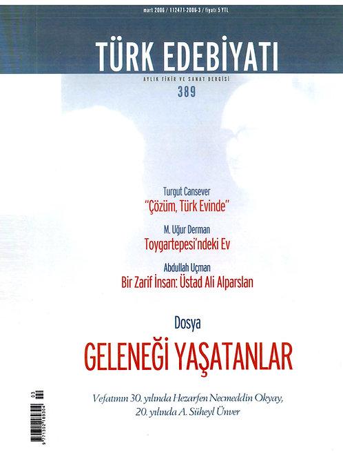 Türk Edebiyatı Dergisi 389. Sayı