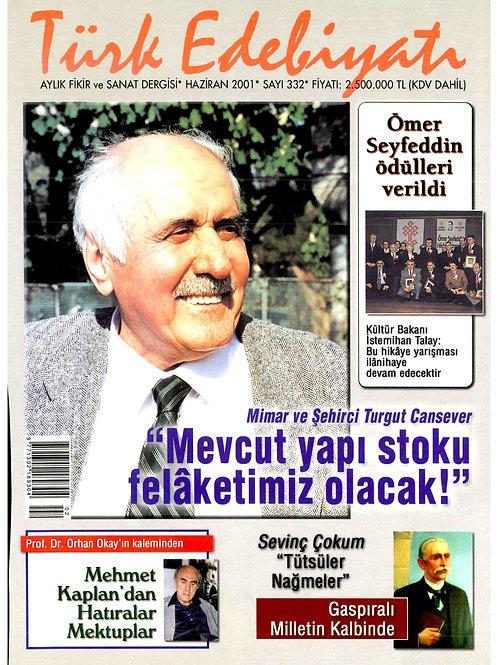 Türk Edebiyatı Dergisi 332. Sayı