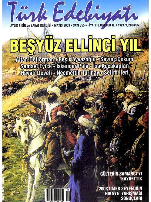 Türk Edebiyatı Dergisi 355. Sayı