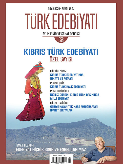 Türk Edebiyatı Dergisi 558. Sayı