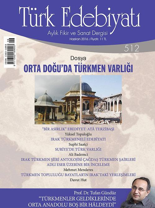 Türk Edebiyatı  Dergisi 512. Sayı