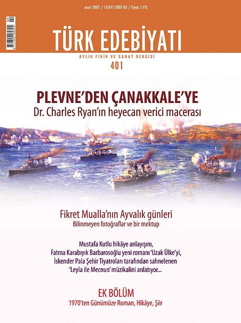 Türk Edebiyatı Dergisi 401. Sayı