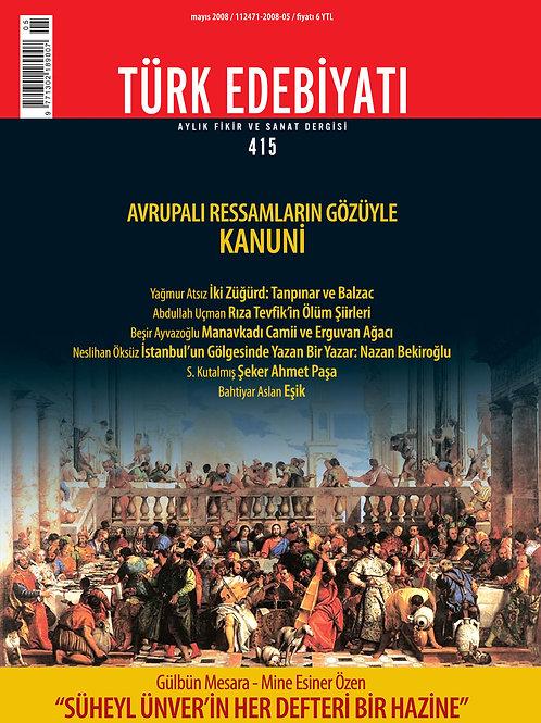 Türk Edebiyatı Dergisi 415. Sayı