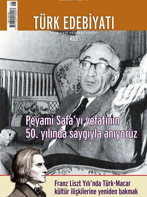Türk Edebiyatı Dergisi 452. Sayı