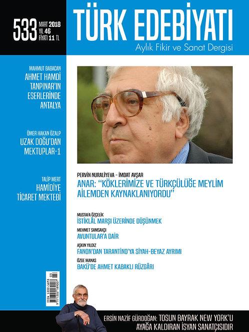 Türk Edebiyatı Dergisi 533. Sayı