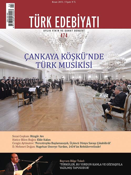Türk Edebiyatı Dergisi 474. Sayı