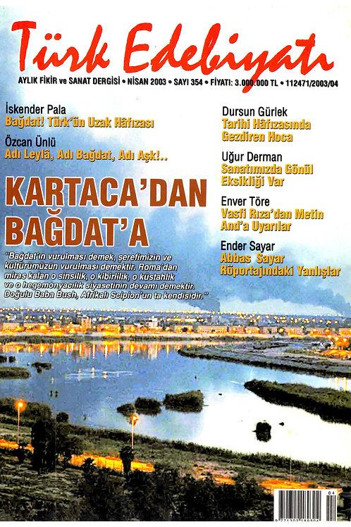 Türk Edebiyatı Dergisi 354. Sayı