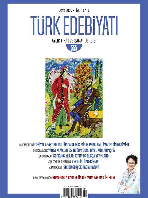 Türk Edebiyatı 555. Sayı