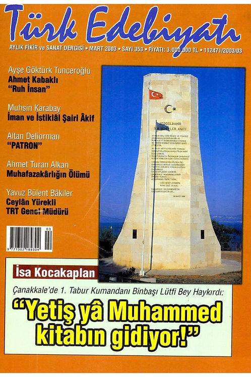 Türk Edebiyatı Dergisi 353. Sayı