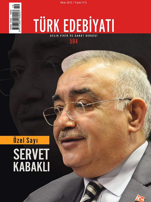 Türk Edebiyatı Dergisi 504. Sayı