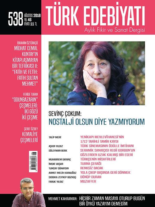 Türk Edebiyatı Dergisi 538. Sayı