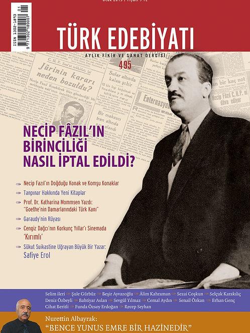 Türk Edebiyatı Dergisi 495. Sayı