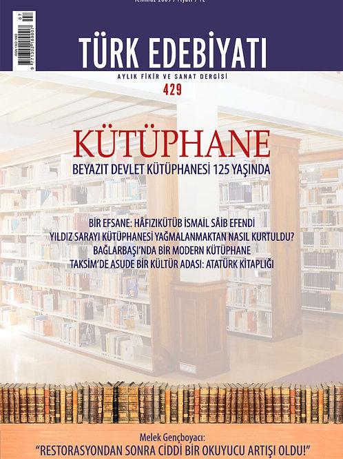 Türk Edebiyatı Dergisi 429. Sayı