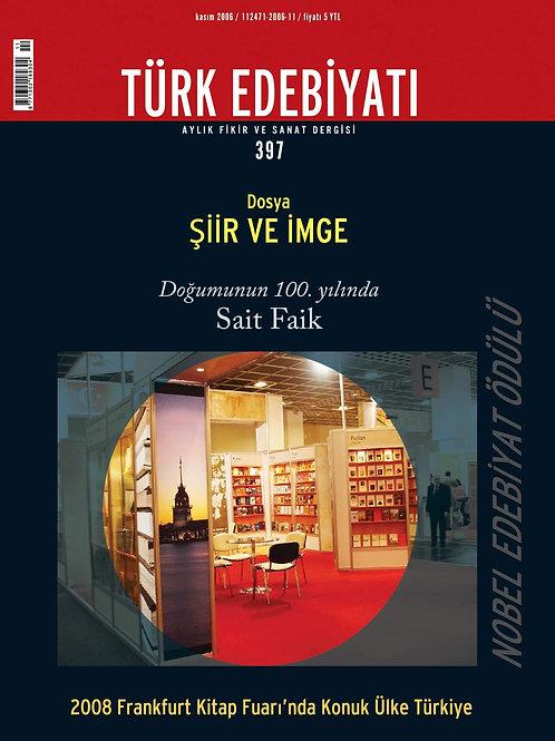 Türk Edebiyatı Dergisi 397. Sayı