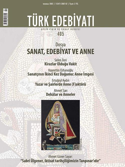 Türk Edebiyatı Dergisi 405. Sayı