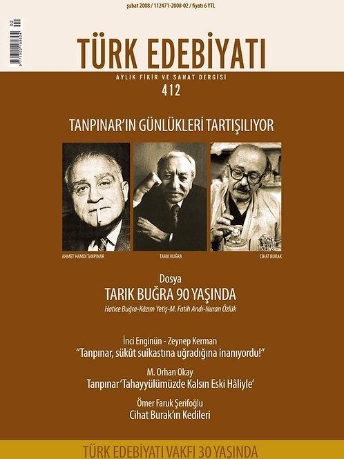 Türk Edebiyatı Dergisi 412. Sayı