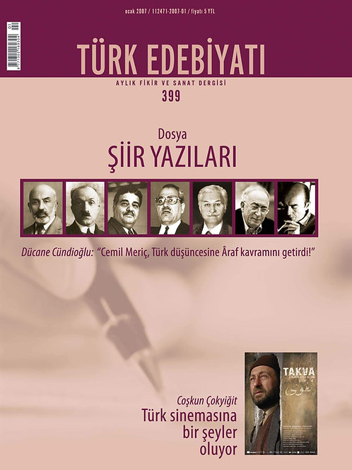 Türk Edebiyatı Dergisi 399. Sayı