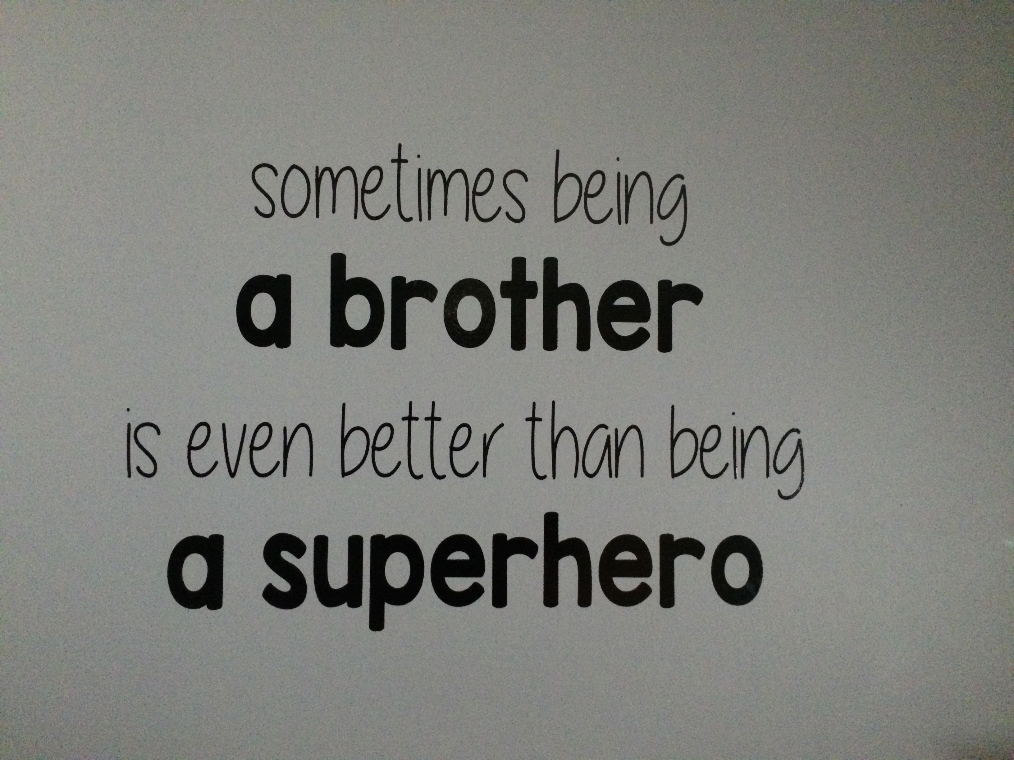 Superhero Wall Saying