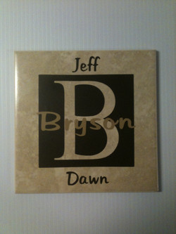 6x6 Tile with Names