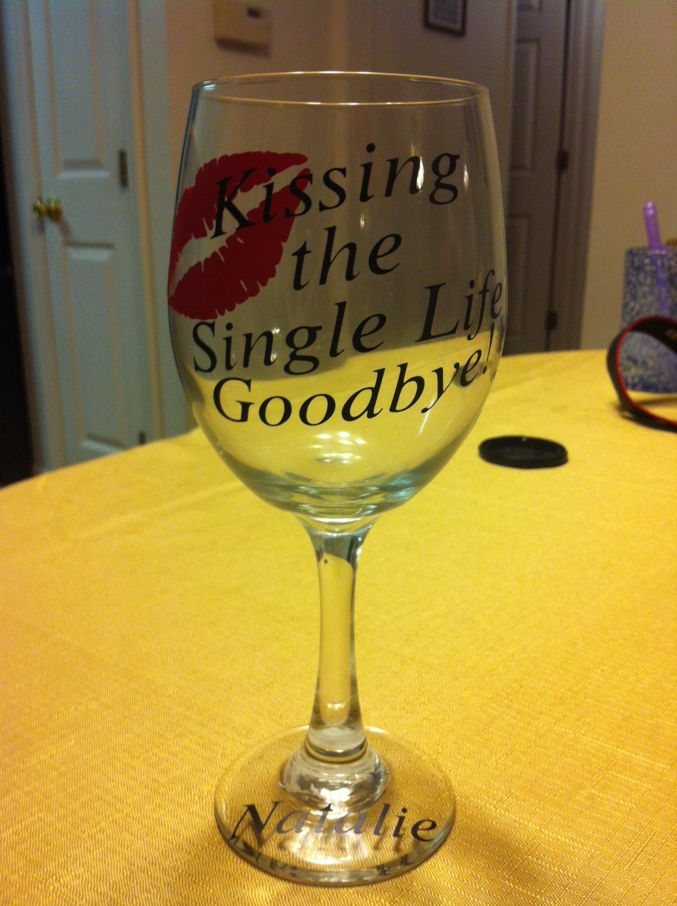 Bachelorette Glass