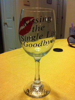Bachelorette Glass