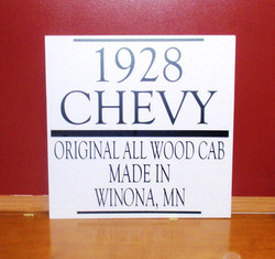 1928 Chevy Sign
