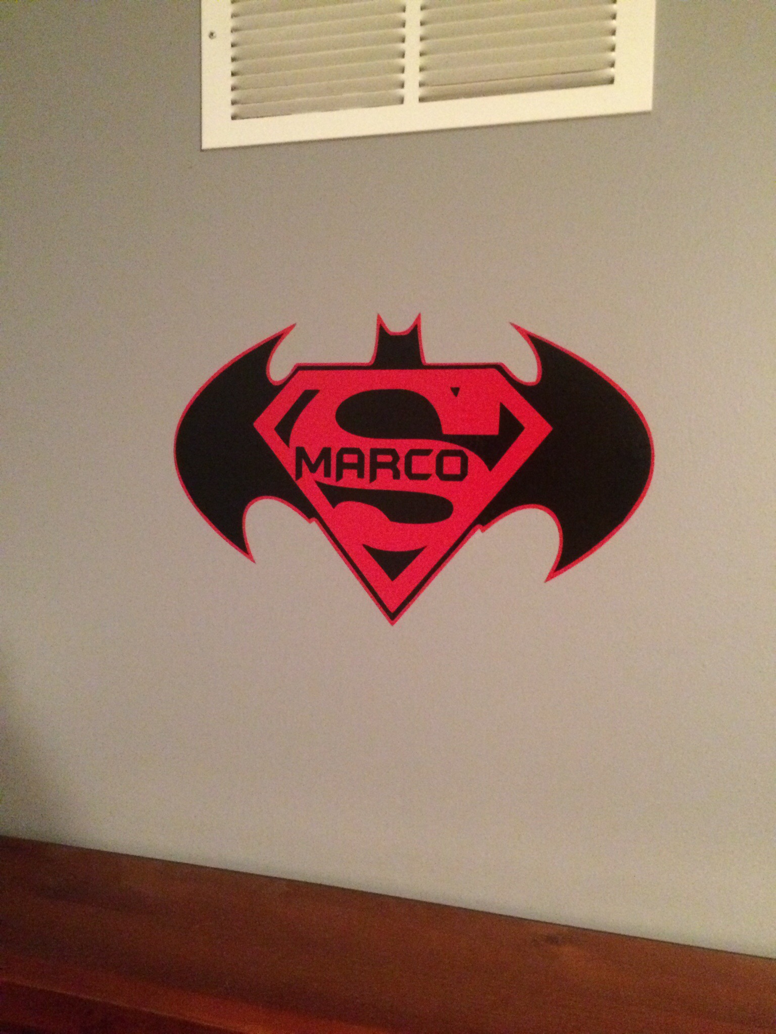 Superhero Wall Name 2