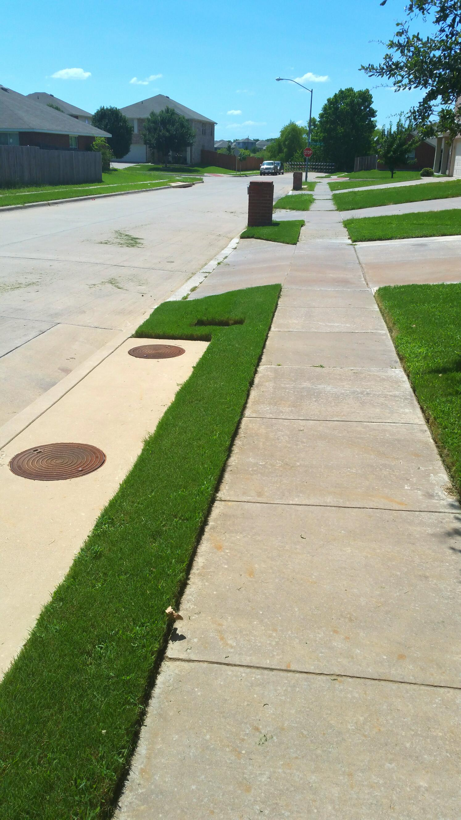 professional sidewalk edging