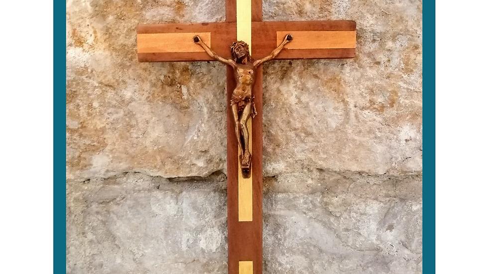 Christ éclatant de lumière - bois peint / métal