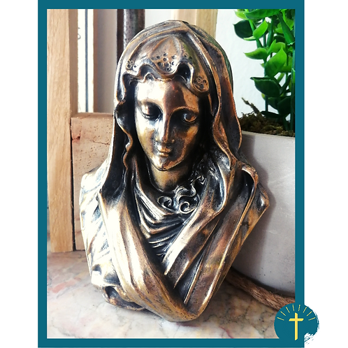 Petit buste Vierge - métal