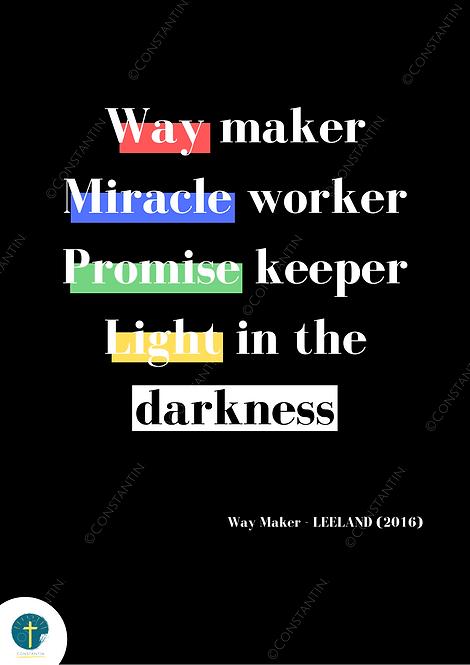 Way Maker - Noir - A4